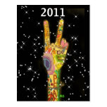 Peace 2011  Invitation - Save the Date ! Postcard