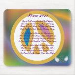 Peace 2011 Poem On A Mousepad-Customize