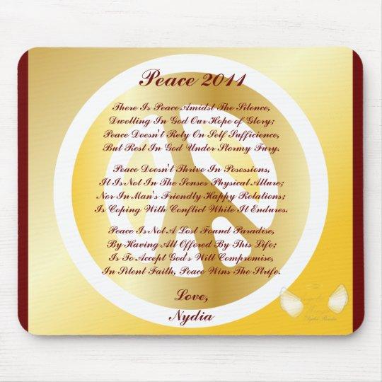 Peace 2011 Poem On A Mousepad-Customize Mouse Pad
