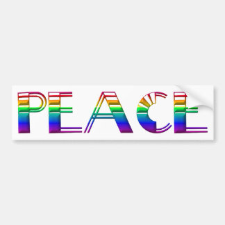 Peace 2 bumper stickers