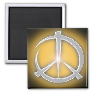peace 2 inch square magnet