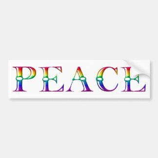 Peace 3 bumper stickers