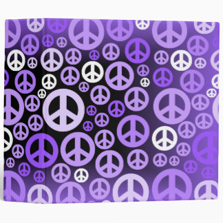 peace 3 ring binder