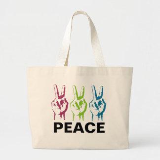 Peace 3 times jumbo tote bag
