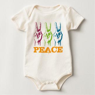 Peace 3 times symbols baby bodysuit