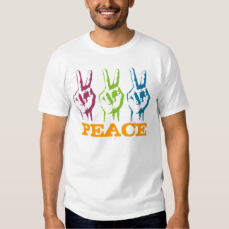 Peace 3 times symbols t shirts
