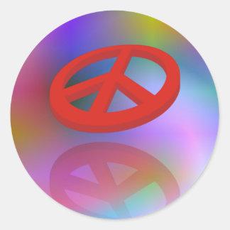 Peace 3D / reflexion | spiral coloured Classic Round Sticker