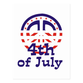 Peace 4th of July T-shirts and gifts Postcard