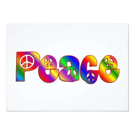 """PEACE 5"""" X 7"""" INVITATION CARD"""