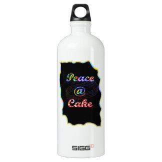 Peace A @ cake Aluminum Water Bottle