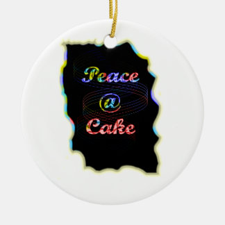 Peace A @ cake Ceramic Ornament
