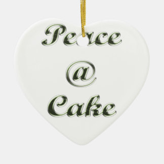 Peace A Cake Embose nice Ceramic Ornament