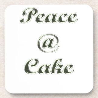 Peace A Cake Embose nice Drink Coaster