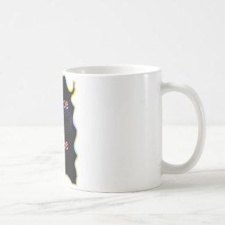 Peace A Cake Emboss nice Black Background Coffee Mug