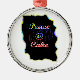 Peace A @ cake Metal Ornament