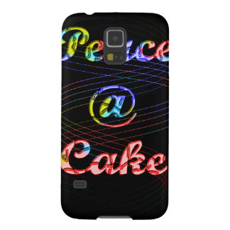 Peace A Cake Motif pattern nice Black Background Samsung Galaxy Nexus Covers