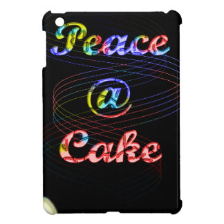 Peace A Cake Motif pattern nice Black Background Case For The iPad Mini