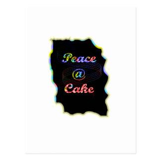 Peace A @ cake Postcard