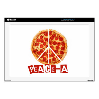 """Peace-a for the pizza and peace  lover 17"""" laptop decal"""
