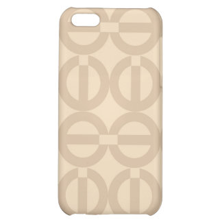Peace-A-GoGo Beige 4/4S  Cover For iPhone 5C