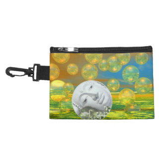 Peace – Abstract Golden and Emerald Serenity Accessory Bags