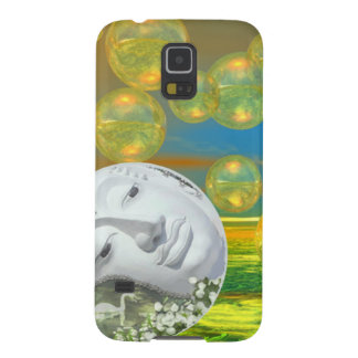 Peace – Abstract Golden and Emerald Serenity Cases For Galaxy S5