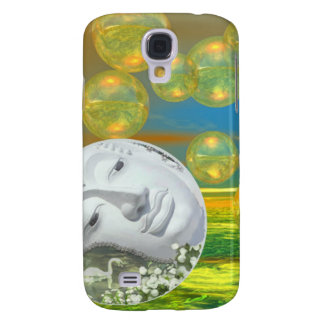 Peace – Abstract Golden and Emerald Serenity Samsung Galaxy S4 Case