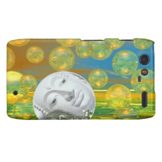 Peace – Abstract Golden and Emerald Serenity Droid RAZR Case