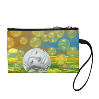 Peace – Abstract Golden and Emerald Serenity Coin Purse