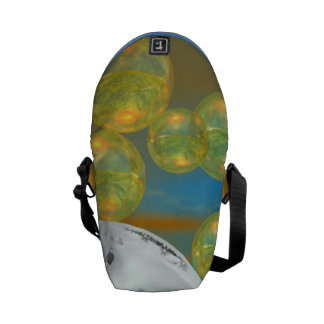 Peace – Abstract Golden and Emerald Serenity Courier Bag
