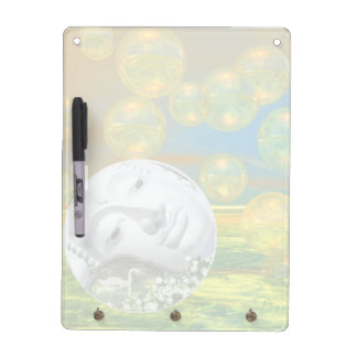 Peace – Abstract Golden and Emerald Serenity Dry-Erase Board