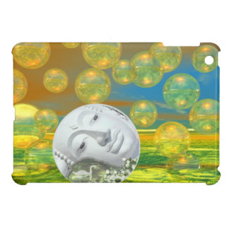 Peace – Abstract Golden and Emerald Serenity iPad Mini Cases