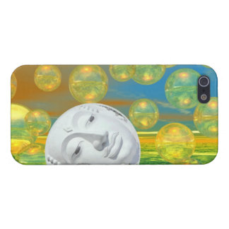 Peace – Abstract Golden and Emerald Serenity iPhone 5 Cover