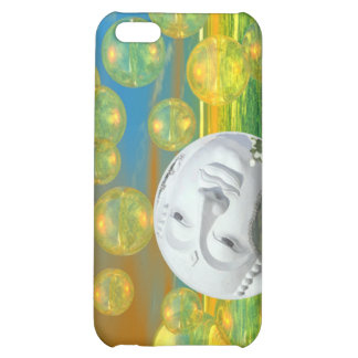 Peace – Abstract Golden and Emerald Serenity Case For iPhone 5C