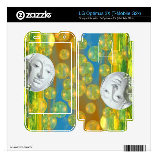 Peace – Abstract Golden and Emerald Serenity Skin For LG Optimus 2X