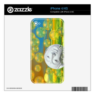 Peace – Abstract Golden and Emerald Serenity iPhone 4S Decals
