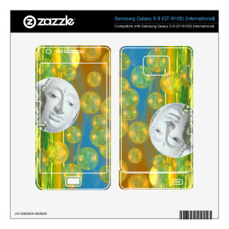 Peace – Abstract Golden and Emerald Serenity Samsung Galaxy S II Decal
