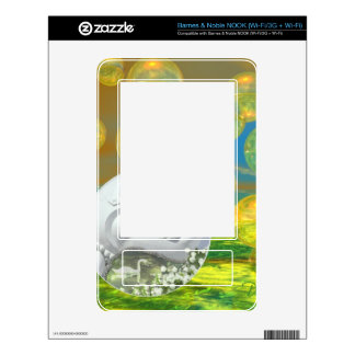 Peace – Abstract Golden and Emerald Serenity Skins For NOOK