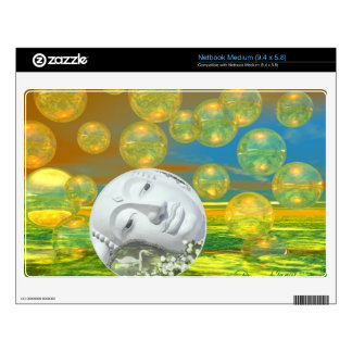 Peace – Abstract Golden and Emerald Serenity Skin For Netbook