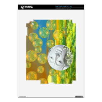 Peace – Abstract Golden and Emerald Serenity Skin For The iPad 2
