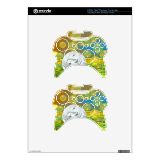 Peace – Abstract Golden and Emerald Serenity Xbox 360 Controller Skins