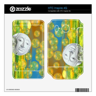 Peace – Abstract Golden and Emerald Serenity HTC Inspire 4G Skins