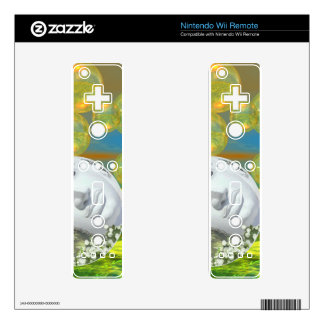Peace – Abstract Golden and Emerald Serenity Wii Remote Decal