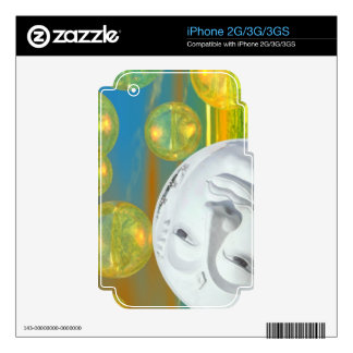 Peace – Abstract Golden and Emerald Serenity iPhone 3 Decal