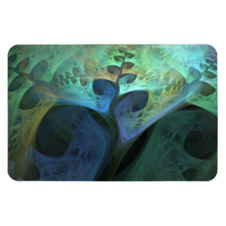 """Peace"" Abstract Organic Fractal Magnet"