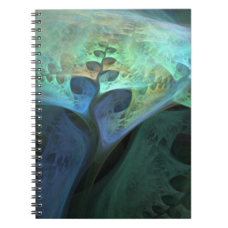 """Peace"" Abstract Organic Fractal Notebook"