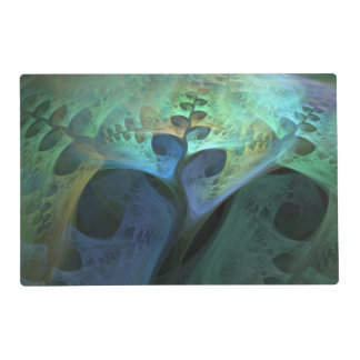 """Peace"" Abstract Organic Fractal Laminated Placemat"