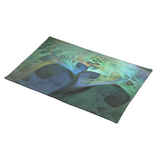 """Peace"" Abstract Organic Fractal Cloth Place Mat"