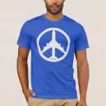 Peace Airplane Playera