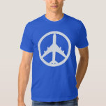 Peace Airplane Playeras